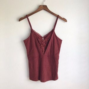 Free People Lace Crop Cami Top